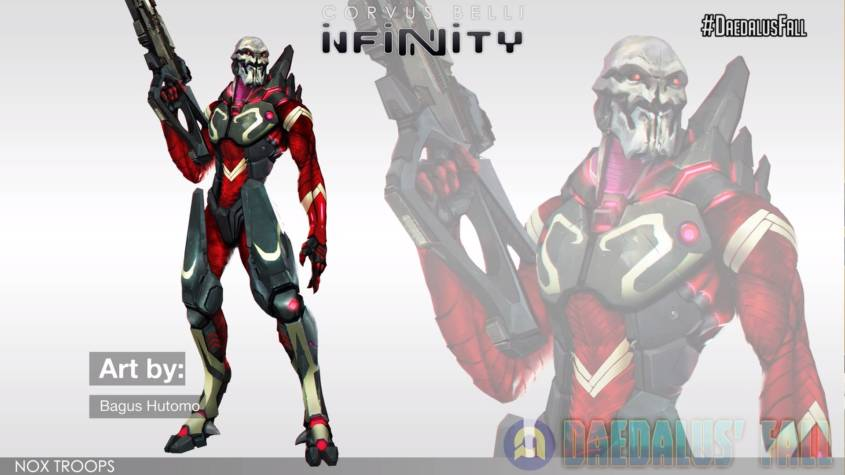 Infinity - Combined Army - Nox Troops Artwork - arachNET.de