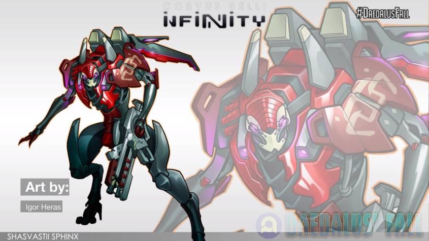 Infinity - Combined Army - Sphinx Artwork - arachNET.de