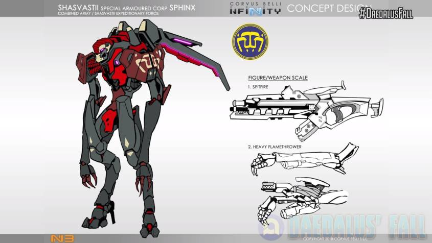 Infinity - Combined Army - Sphinx Concept Art - arachNET.de