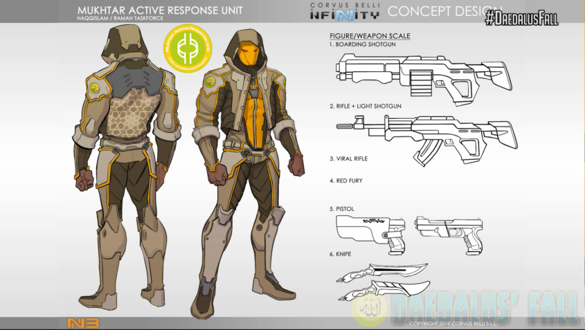 Infinity - Haqqislam - Mukhtar Active Response Unit Concept Art - arachNET.de