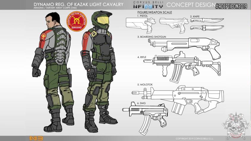 Infinity - Ariadna - Dynamo Reg. of Kazak Light Cavalry - arachNET.de