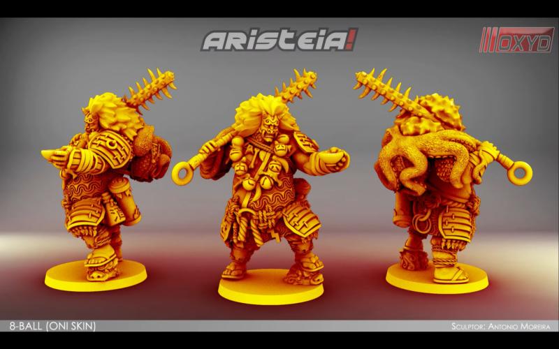 Aristeia - 8-Ball Oni Skin Render