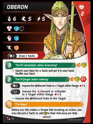 Aristeia - Oberon - Character Card