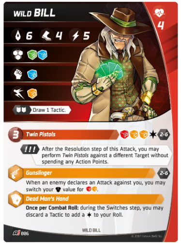 Aristeia - Wild Bill - Character Card
