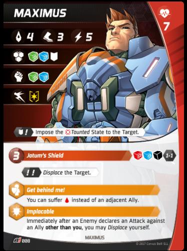 Aristeia - Maximus - Charakterkarte