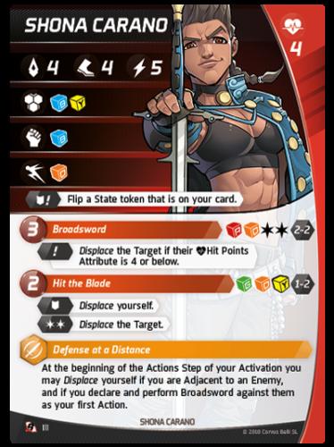 Aristeia - Shona Carano - Charakterkarte