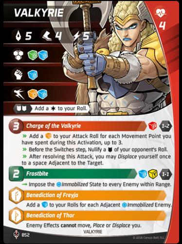 Aristeia - Valkyrie - Charakterkarte